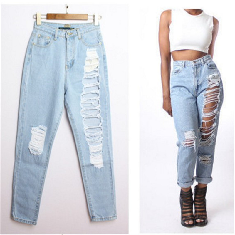 ripped boyfriend jeans page 3 - clothing