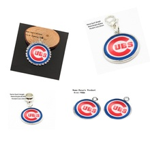Classic Chicago Cubs Football Dangle Charms For DIY Necklace & Bracelet & Earring 12 Pcs