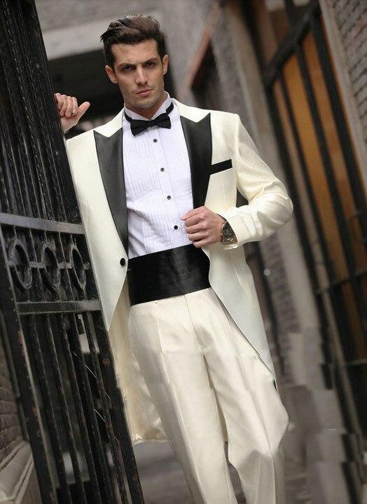 Free EMS/Custom made italian western wedding long style groom man ...