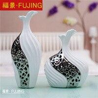 Керамика ваза украшения современной гостиной европейском стиле украшения дома Творческий большой белый фарфоровая ваза