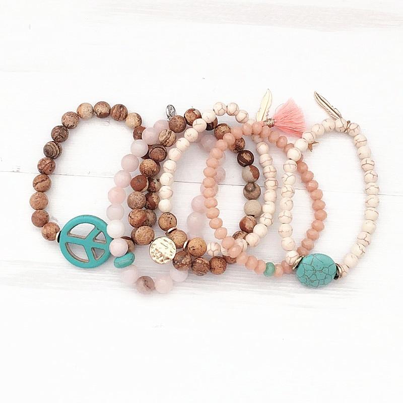 Dongmu jewellery 2017 new bohemian crystal ladies bracelet fashion charm wooden beads bracelet Christmas gifts