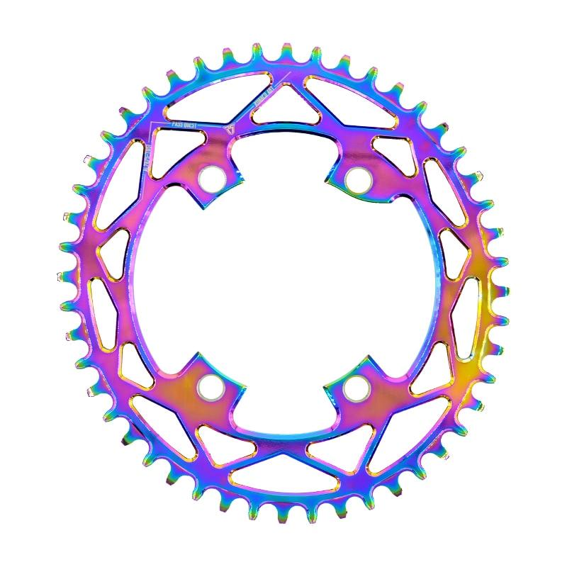 PASS QUEST R110 / 4 BCD 110BCD Titanium-plated Oval Road Bike Narrow Wide Chainring 42T-52T Chainwheel For R7000 R8000 DA9100