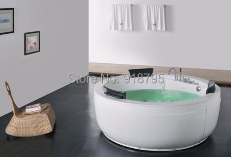 fiber glass acrylic whirlpool bathtub hydromassage surfing round tub nozzles spary jets indoor. Black Bedroom Furniture Sets. Home Design Ideas