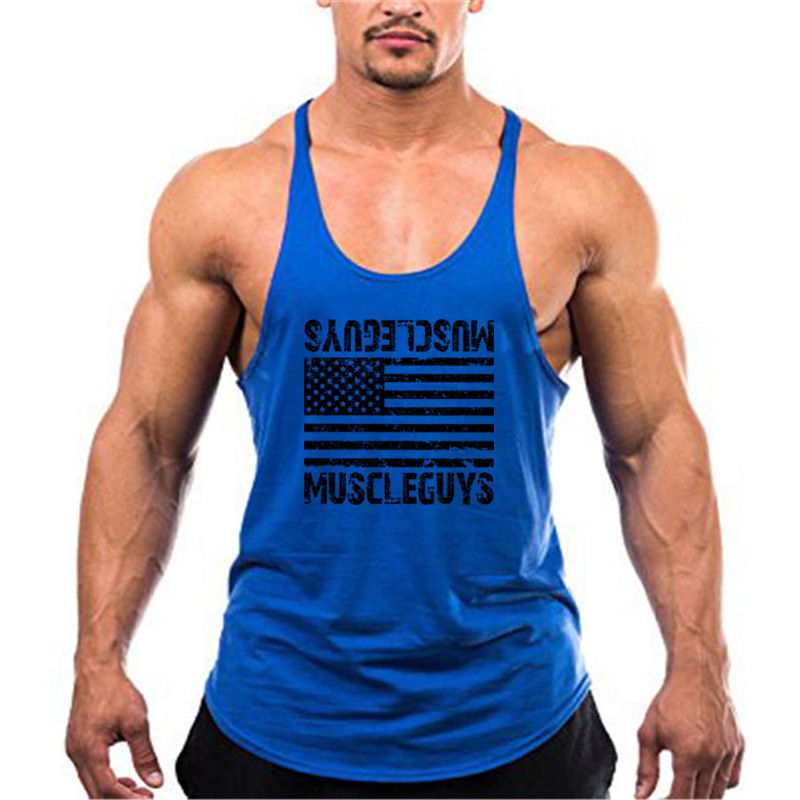 Bodybuilding stringer tank top Superman Gyms sleeveless shirt men Fitness Vest Singlet sportswear workout tank top 29