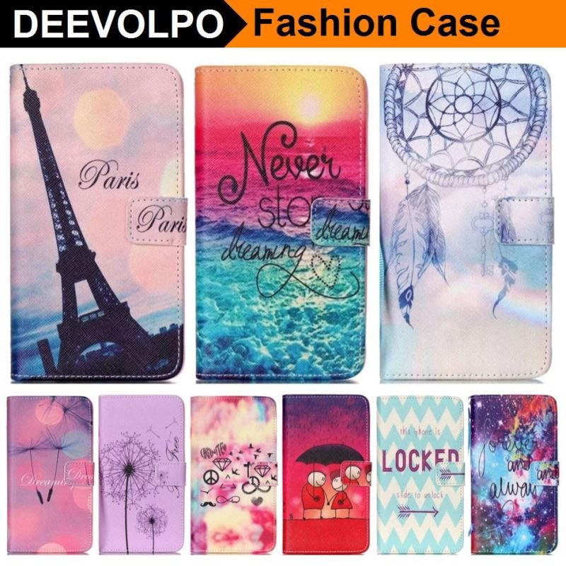 DEEVOLPO Leather Case For Samsung Galaxy Note 4 5 S6 Edge Plus S5 S4 S3 Mini Wind chimes Wallet Flip Magnetic Bags Cover D03Z image