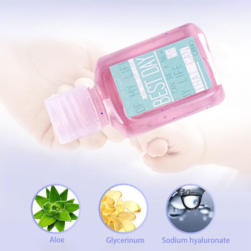 30ml Summer Fresh Jelly Candy Color Mini Hand Sanitizer Anti-Bacteria Fruit-Scented Disposable No Clean Waterless Shampoo Clean