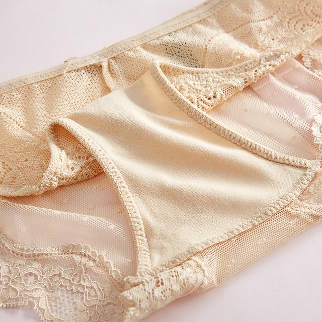 Soft Breathable Transparent Tempting Low-Rise Cotton Lingerie