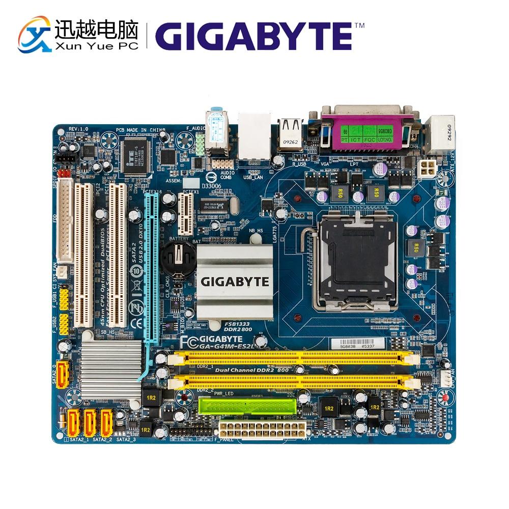 Gigabyte GA-G41M-ES2L Original Used Desktop Motherboard G41M-ES2L G41 LGA 775 DDR2 8G SATA2 USB2.0 Micro-ATX