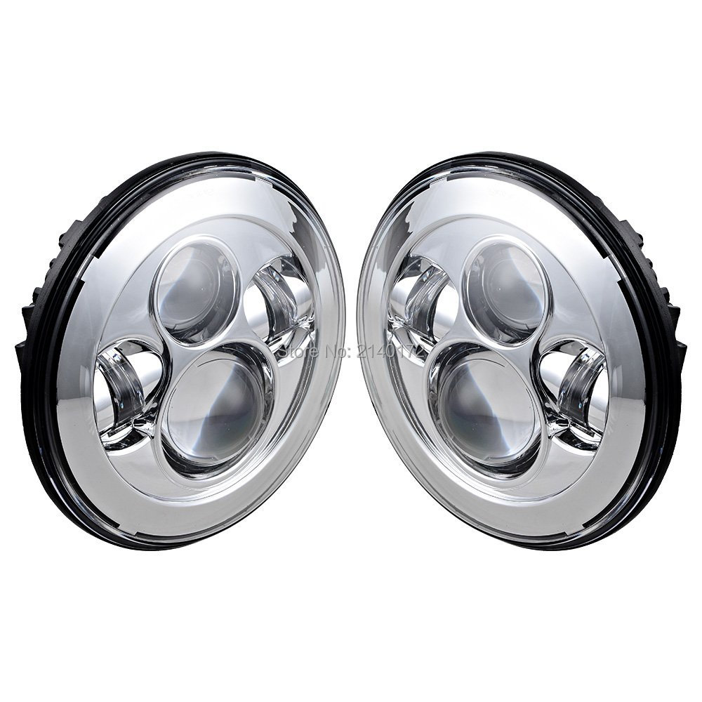 7inch Round led projector headlight for Land Rover Defender headlamps High/Low Beam harley led headlight