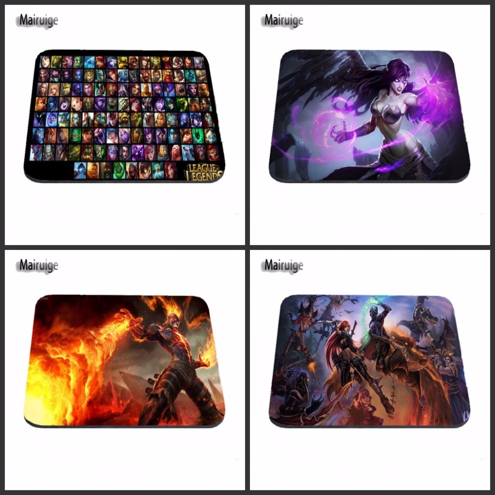 League of Legends Team Fight LOL Computer Mouse Pad Mousepads Decorate Your Desk Non-Skid Rubber Pad As Gift