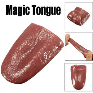 Halloween Toy Kids Kuso Tongue Trick Magic Horrible Tongue Fake Tounge Realistic stretches Elasticity Toy Stress Reliever Decor