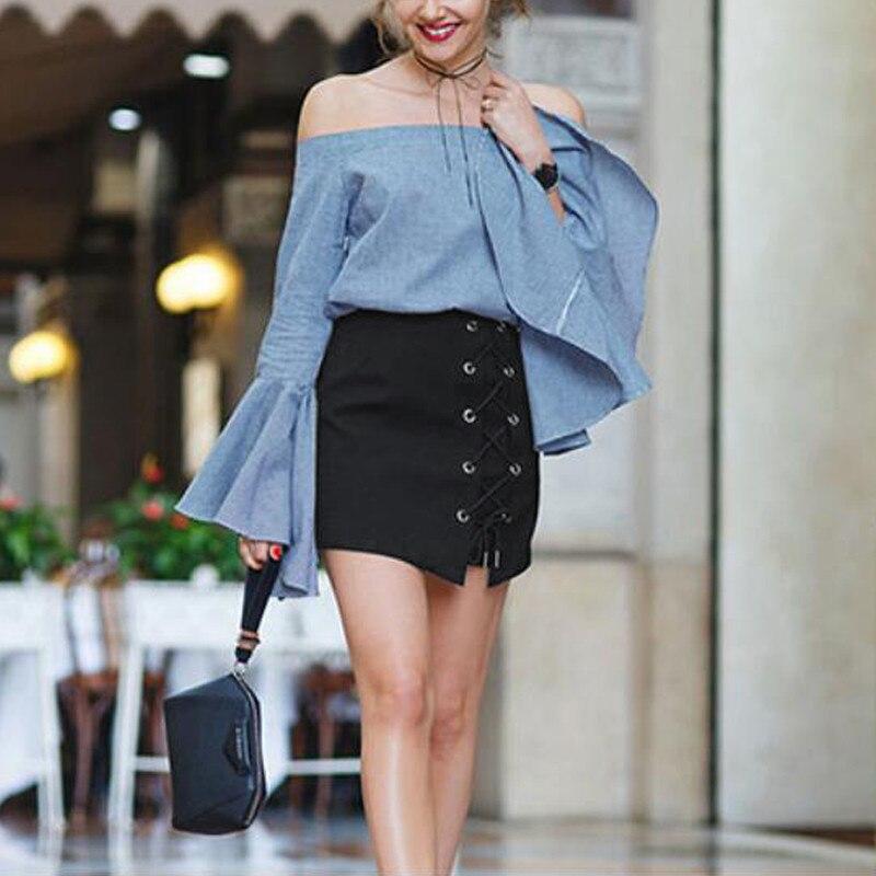 HTB1FZu5OFXXXXc3aXXXq6xXFXXXc - Women Black Mini Skirts Lace up PTC 39