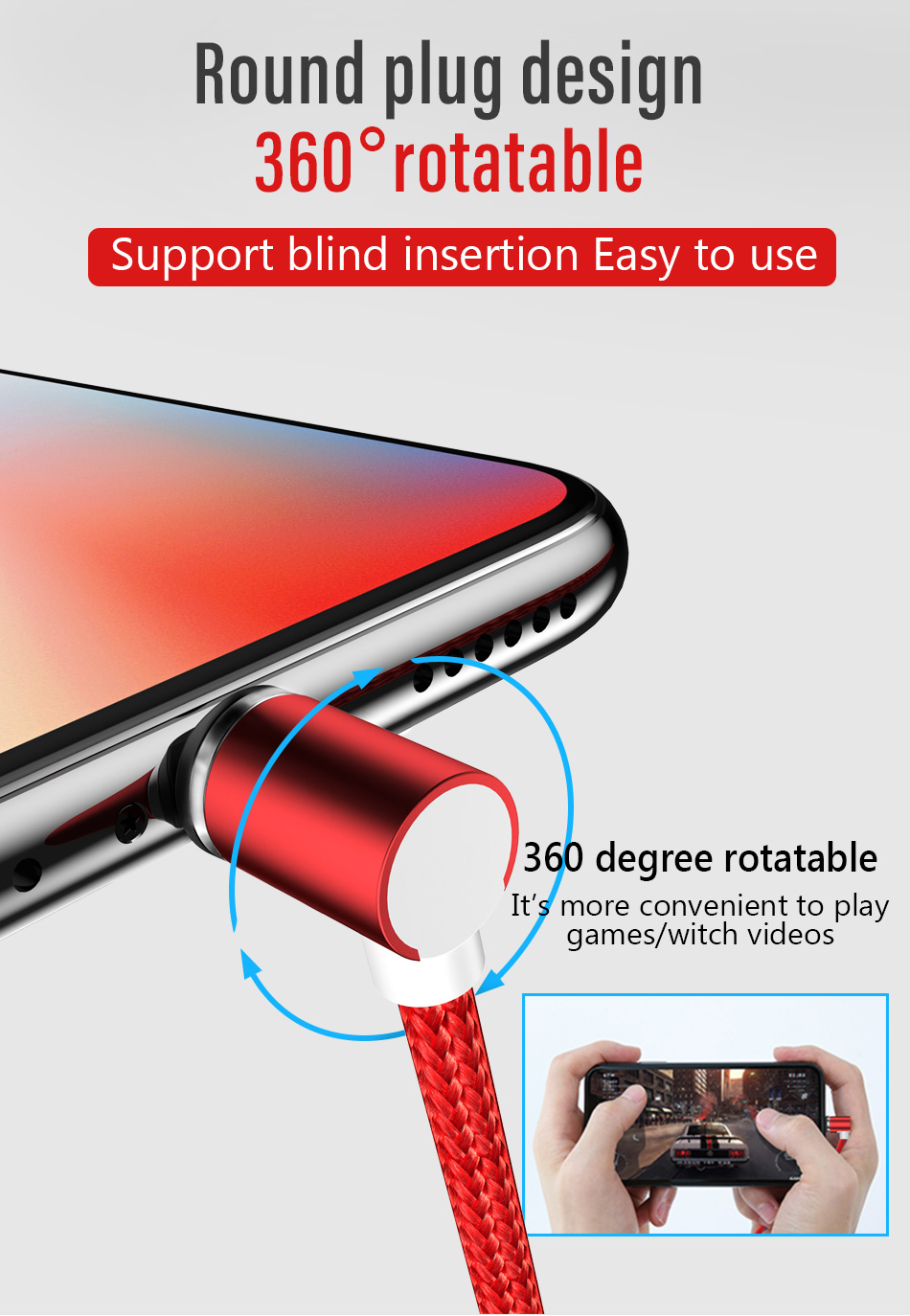 NOHON 90 Degree Magnetic Cable USB Type C Charging For SamSung S8 Plus Magnet Fast Charge For Xiaomi 5 6 Huawei P9 Charger Cable (9)