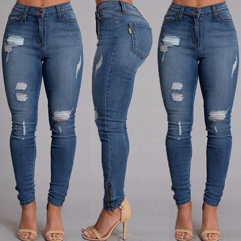 Hot Selling Women Slim Jeans Casual Street Wear Sexy Women Denim Skinny Pants High Waist Stretch Pencil Trousers