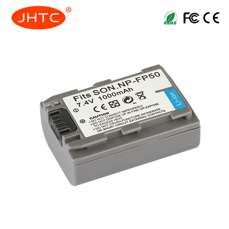 JHTC 1pc/3pcs 1000mAh NP-FP50 NP-FP51 Rechargeable Battery NP FP50 Camera Batteries for Sony NP-FP30 NP-FP50 NP-FP60 NP-FP70JHTC 1pc/3pcs 1000mAh NP-FP50 NP-FP51 Rechargeable Battery NP FP50 Camera Batteries for Sony NP-FP30 NP-FP50 NP-FP60 NP-FP70