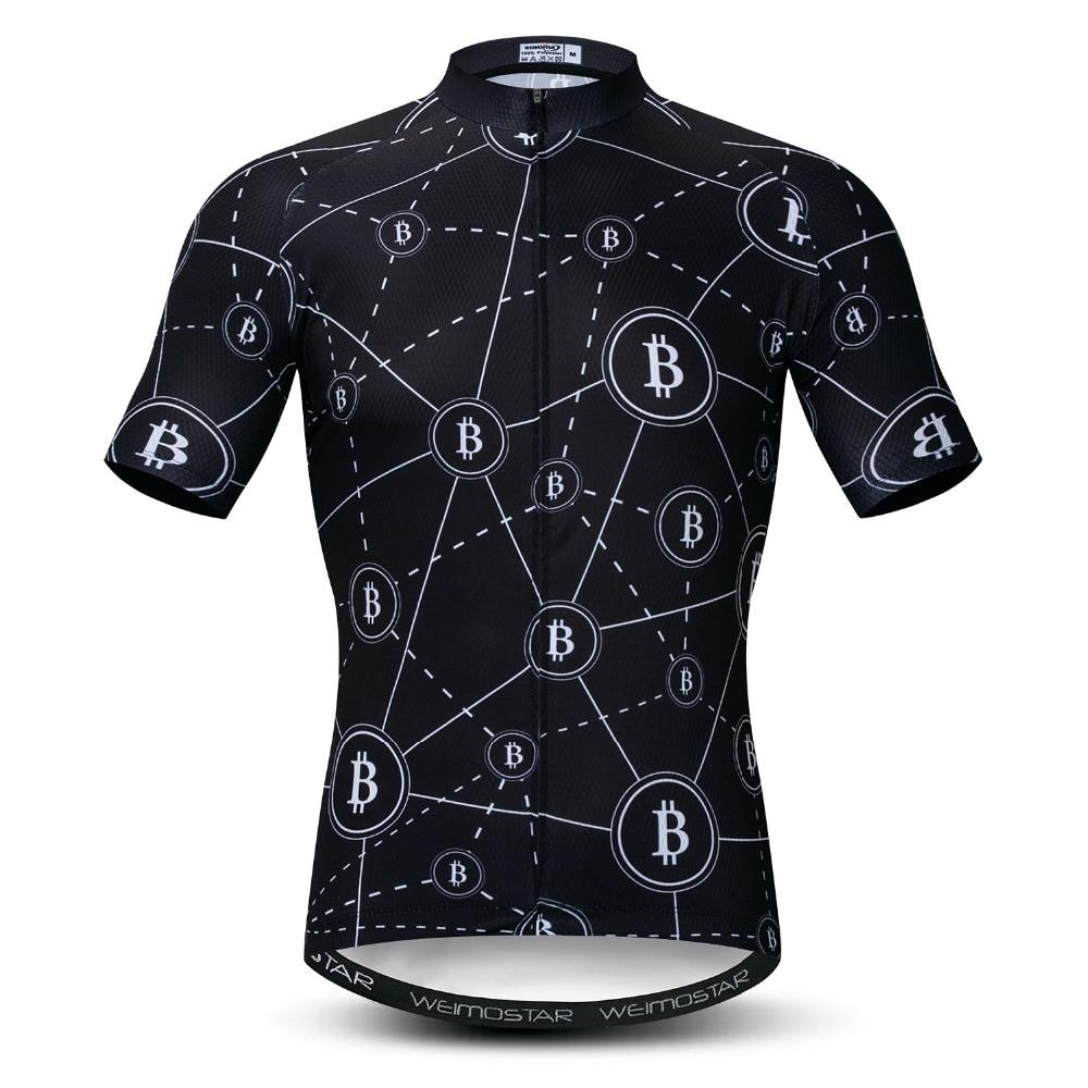 Men Cycling Jersey Bike Short Sleeve Clothing Bicycle Sports Shirt Black-White#