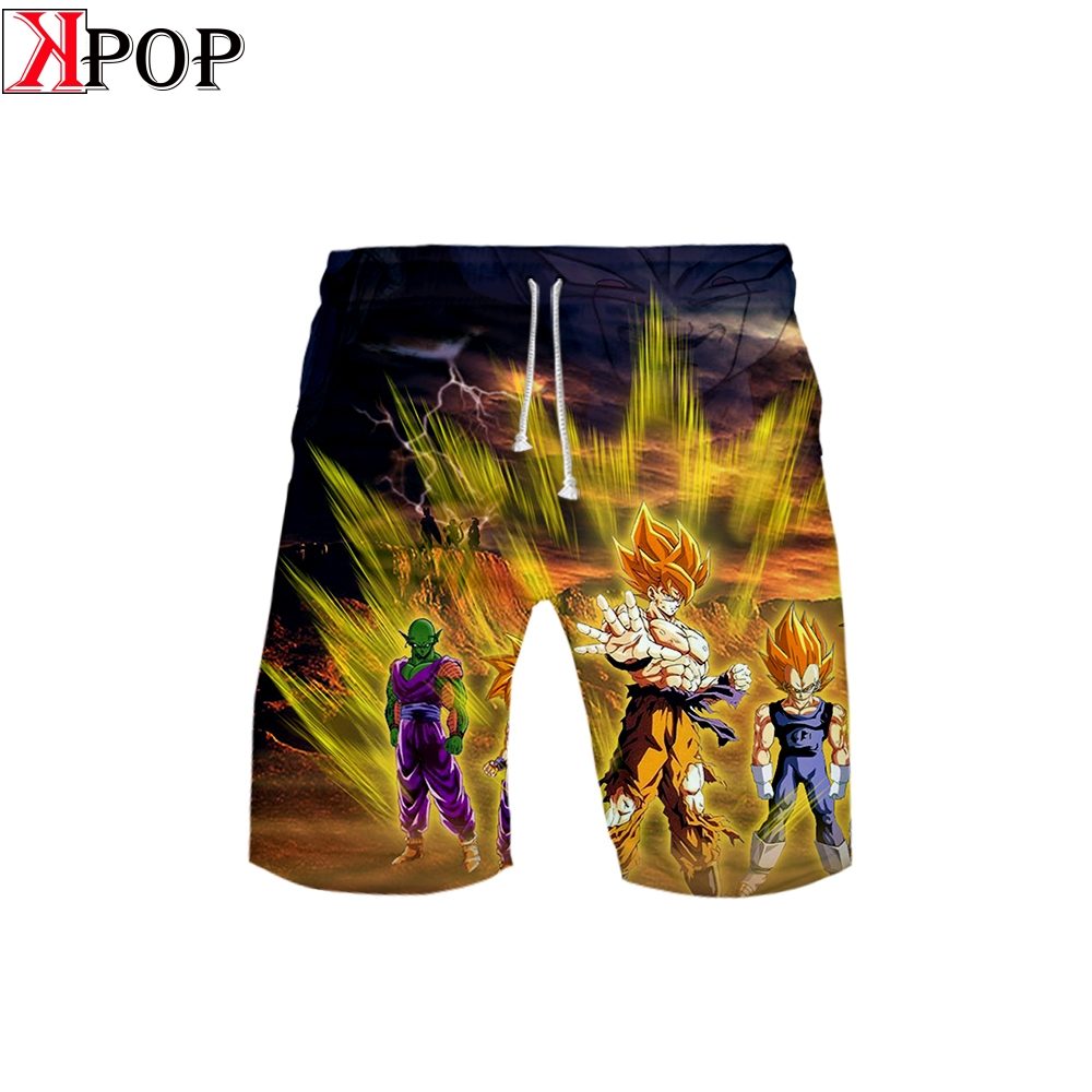 Dragon Ball Supe Fashion Beach Mens <font><b>Shorts</b></font> Surf <font><b>Board</b></font> <font><b>Shorts</b></font> Summer Beach Entertainment Sport Quick Dry Boardshorts plus <font><b>6XL</b></font> image