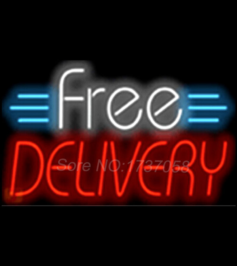 Free delivery signboard food shop neon sign commercial avize outdoor free delivery signboard food shop neon sign commercial avize outdoor nikke air jorrdan neon signs glass tube handicraft 1714 in neon bulbs tubes from mozeypictures Gallery