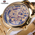 2017 New Gold Watches Top Luxury Brand Mens Fashion Automatic Skeleton Man Mechanical Watches Classic relogio masculino Gift box