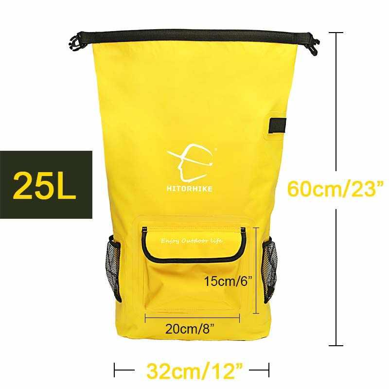 25L открытый речной поход сумка сухая Сумка на двух ремнях ремни пакет для воды рюкзак для плавания водонепроницаемые сумки для дрифтинга каякинга