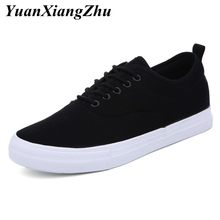 цены Classic Man Shoes Big Size 45 Men Canvas Shoes Vulcanize Mens Shoes Casual White Black Breathable Comfortable Lace Up Male Flats