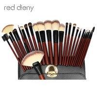 26 pc Brushes Set Pro Soft Horse hair Makeup Foundation Brush Maquillage For Eye Face Shadows Lip Liner Powder Make Up Tools Bag