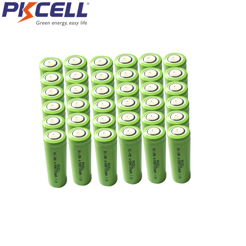 500Pcs 4/5AA 1300mah 1.2v rechargeable NIMH battery 4/5 aa 14430 batteries in flat top non PCM in industrial pvc packing image