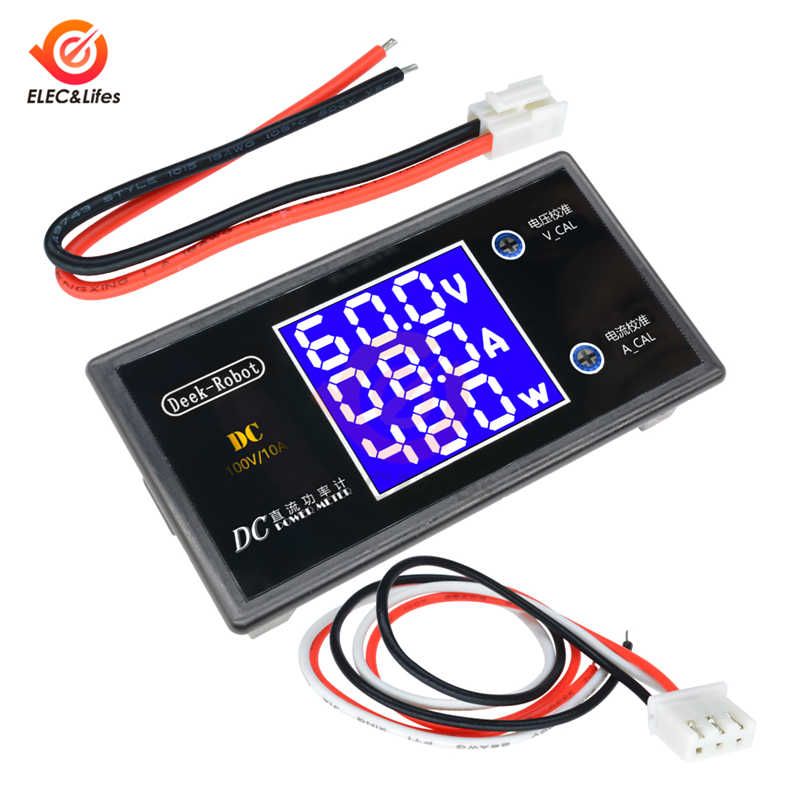 CC 200V 100V 10A LCD Digital voltaje medidor de corriente Tester ajustable amperímetro voltímetro Panel voltímetro Detector doble pantalla led