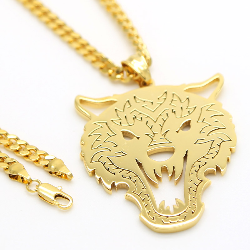 Compare Prices on Gold Wolfe Pendant Online ShoppingBuy Low