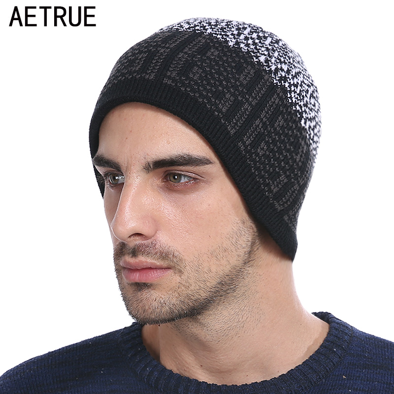 Winter Skullies Beanies Knitted Hat Men Winter Hats For Men Women Fashion Warm Caps Wool Bonnet Brand Mask Beanie Hat Cap 2017 skullies