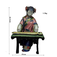 Handmade Statue Sculpture Boutique Ceramic Ornaments Handicraft Ancient Female Characters Handicraft Chinese Zither все цены