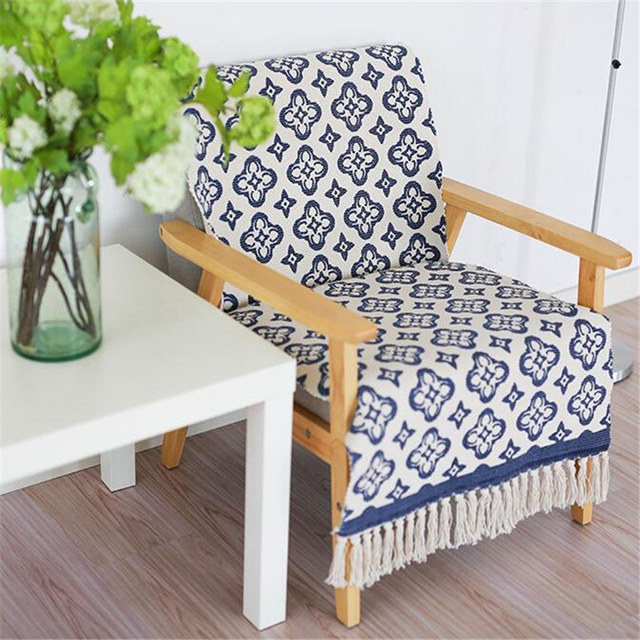 Retro Geometric Patterned Cotton Carpet