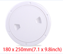 CITALL ABS White Round Boat Yacht Marine Screw Out Deck Plate Inspection Access Hatch Cover 4/6/8 inch