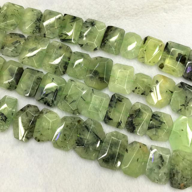 """Atacado Natural Genuine Verde Prehnite Mão Cut Lapidado Pepita Plana Forma Livre Solto 20-30mm Beads 15 """"04240"""