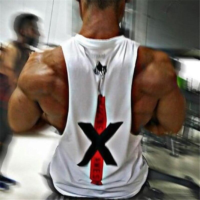 New design Homens Marca Academias de Ginástica academias de fitness Sem  Mangas musculação Regatas masculina Verão Casual O Pescoço Dos Homens  Regatas em ... b89b27f8511