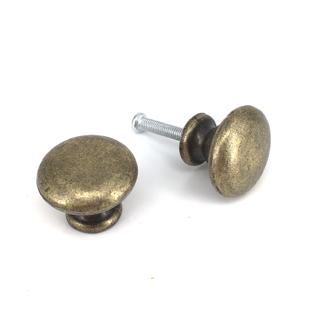 25*20mm Classical Round Pull Handle Cabinet Drawer Retro Door Knob Antique Bronze