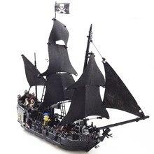 DHL 16006 Пираты Карибского моря 4184 черный жемчуг строительные блоки кирпичи развивающие забавные модели корабля игрушки для детей