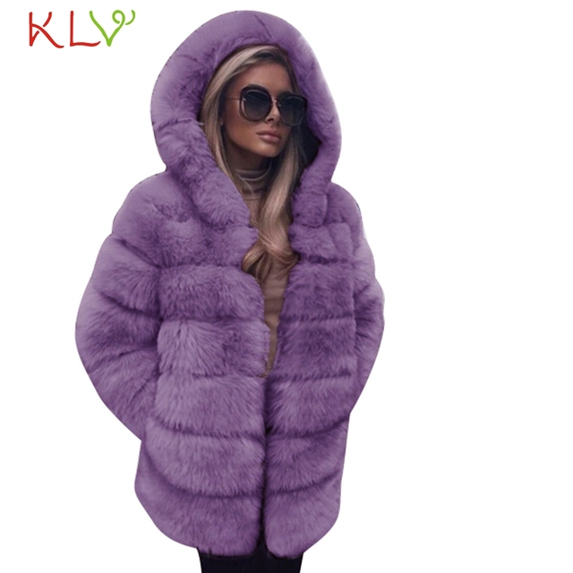 Women Jacket Winter 2018 Faux Fur Hooded Luxury Long Plus Size Ladies Chamarra Cazadora Mujer Coat For Girls 18Oct29