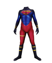 Lycra Spandex Skin Suit Superman Cosplay Party Costumes Superboy Bodysuit Halloween Zentai Jumpsuit