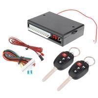 Универсальная автомобильная Система бесключевого входа кнопка Start Stop светодиодный брелок центральный Комплект Дверной замок с пультом дис...