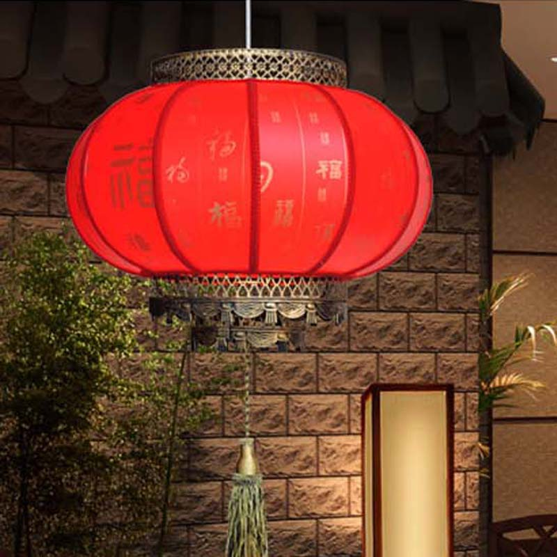 Free Shipping Chinese 30cm Red Lanterns Pendant Light Antique E27 Led Lights  Hotel Lamp Living Room Lights Restaurant Party Ligh In Pendant Lights From  ...