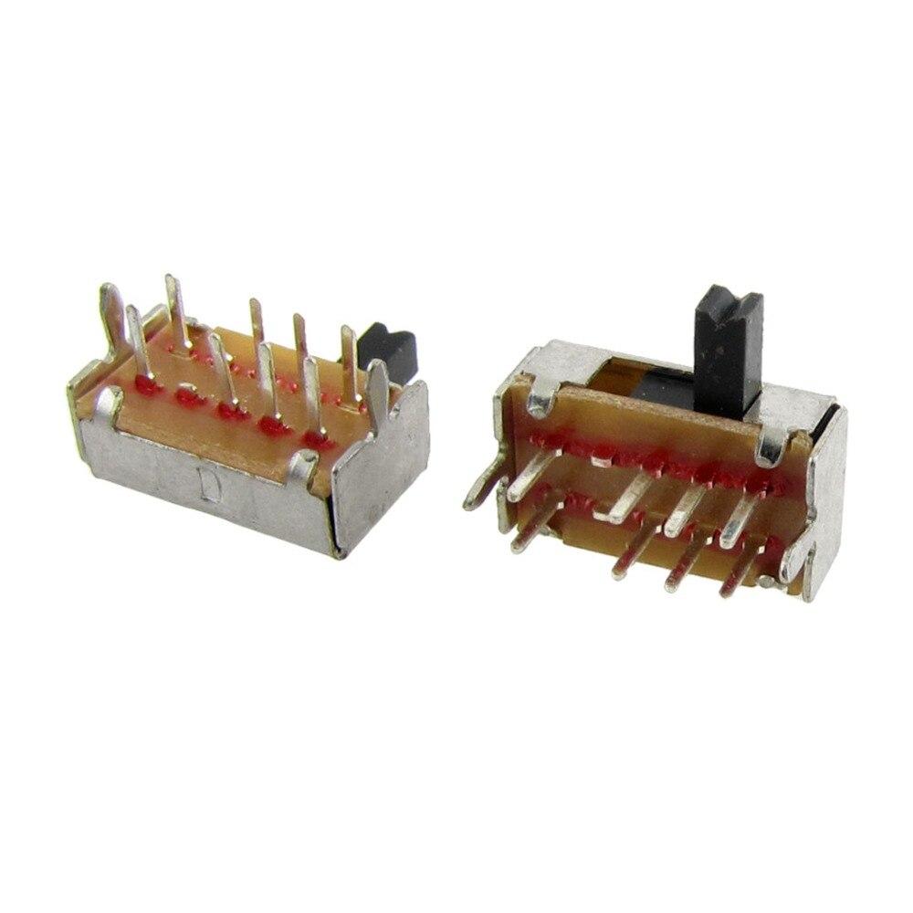 Interrupteur à glissière 2 pôles 3 positions SK23D07 lot de 10
