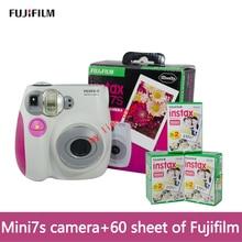 original mini 7S camara instantanea fujifilm+film 60 Instant Film Photo Camera Blue and Pink appareil photo instax Free Shipping