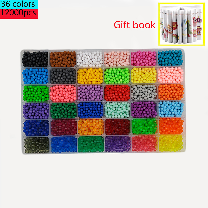6000pcs 24 Colors Refill Beads Puzzle Crystal Beads DIY Water Set Ball Games 3D Handmade Magic Toys For Children