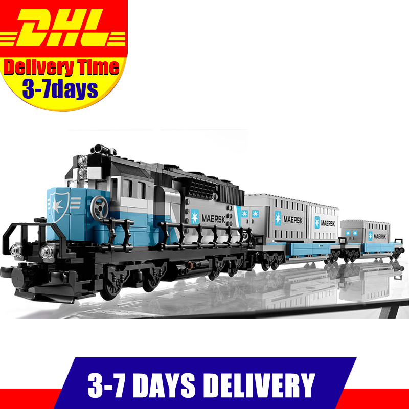 IN Stock 2017 DHL LEPIN 21006 1234 PCS enuine Technic Ultimate Series The Maersk Train Set Building Blocks Bricks Toys 10219 lepin 21006 compatible builder the maersk train 10219 building blocks policeman toys for children