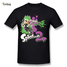 Round Collar Male Cool Game Splatoon T Shirts Plus Size Casual T-Shirts
