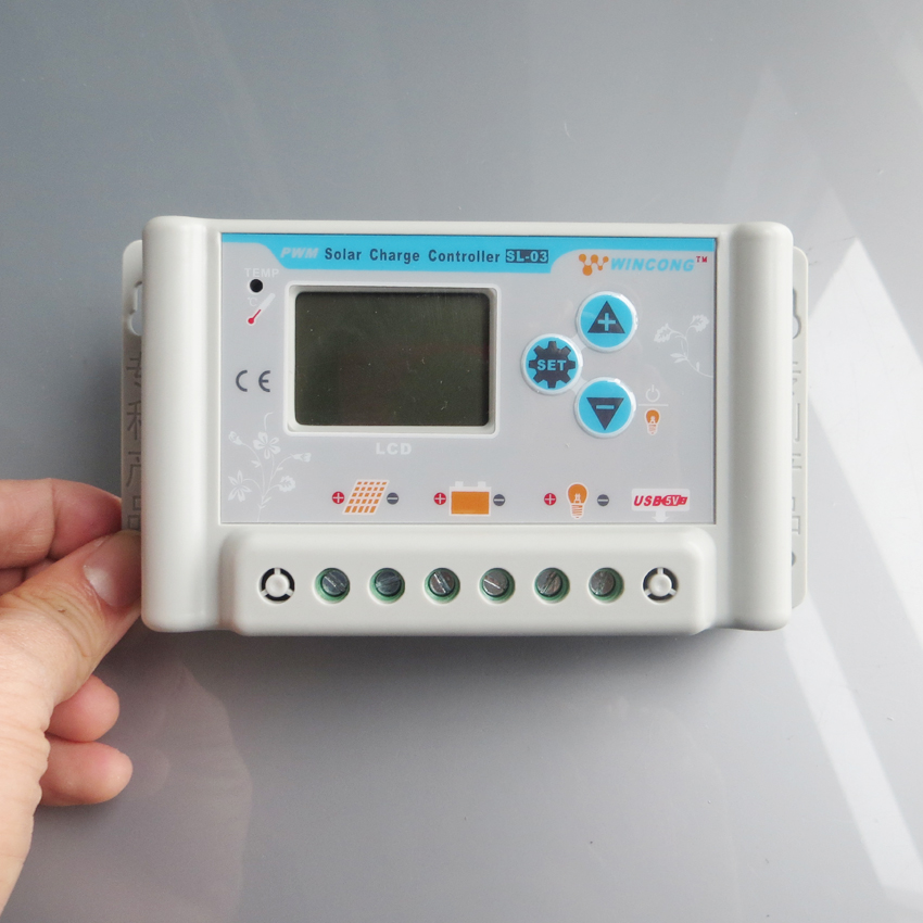 30A 36 V 48 V 60 V wincong sl03-4830a contrôleurs de Charge solaire avec USB LCD Li Li-ion lithium LiFePO4 batteries