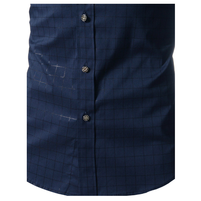2017 nieuwe lente merk mannen shirt mode jurk shirt lange mouw mannen - Herenkleding - Foto 4