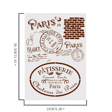 DIY Retro Paris Craft Layering Stencils For Walls Painting Scrapbooking Stamping Stamp Album Decorative Embossing Color random azsg 2018 new arrival tree heart shaped embossing plates design diy paper cutting dies scrapbooking plastic embossing folder