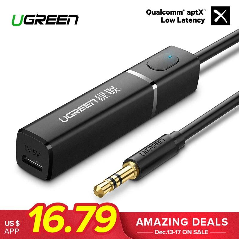 Ugreen Bluetooth APTX Transmissor 4.2 para TV Fones De Ouvido PC 3.5mm Aux Bluetooth Adaptador Transmissor Bluetooth Música De Áudio Óptico